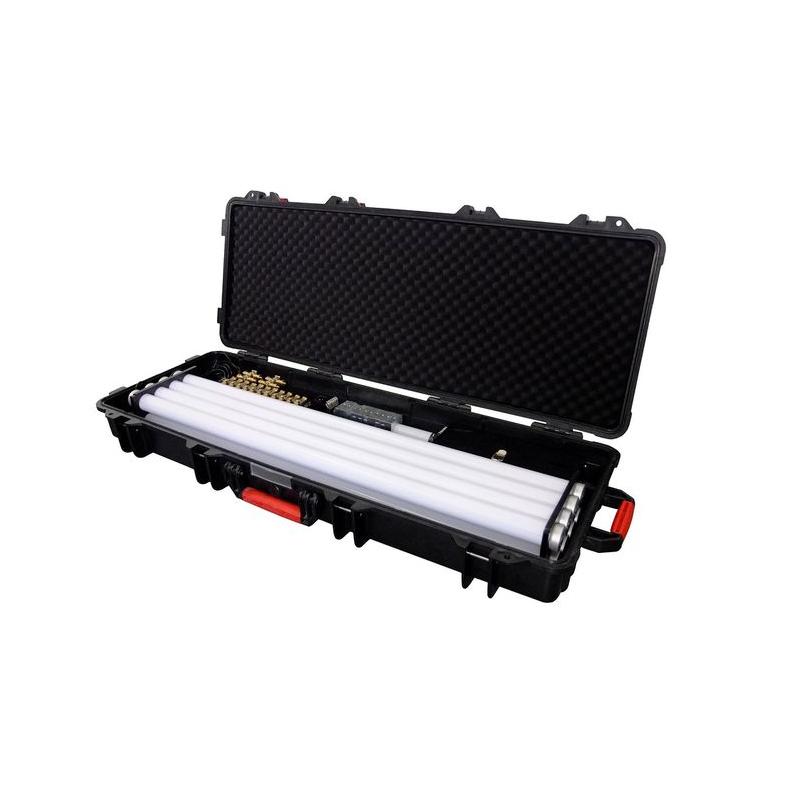 De handige case met acht tubes.