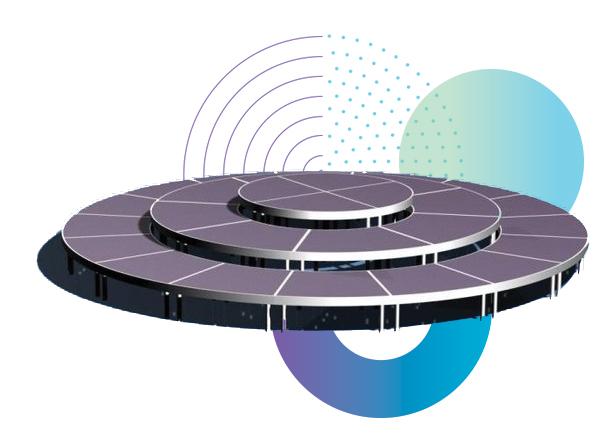 Stagedex rond podium voor 360° entertainment