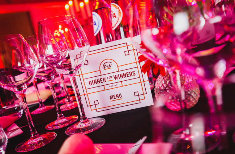 P&V Dinner for winners!